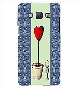 PrintDhaba Heart Plant D-4786 Back Case Cover for SAMSUNG GALAXY A5 (Multi-Coloured)