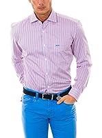 McGregor Camisa Hombre Gil Smith Bt Nbd Rf Ls (Rosa / Azul)