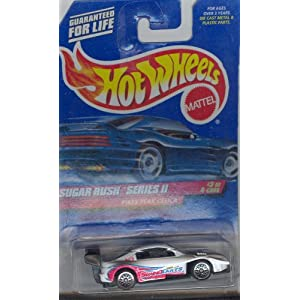 Hot Wheels 1999 971 WHITE PIKES PEAK CELICA SUGAR RUSH SERIES II 3 of 4 1:64 Scale Die-cast Collectible Car