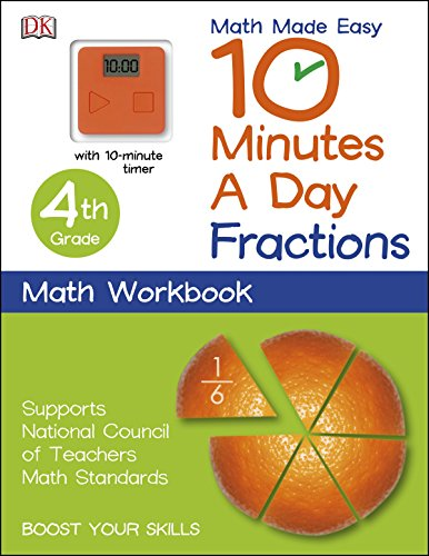 10 Minutes a Day: Fractions, Fourth Grade (Math Made Easy) (Fractions Made Easy compare prices)