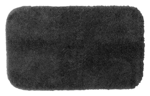 Garland Rug Finest Luxury Ultra Plush Washable Nylon Rug, 24-Inch By 40-Inch, Dark Gray front-296841