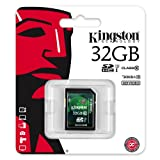 Kingston 32GB SD SDHC Class 10 Memory Card For Canon EOS 5D Mark III, EOS 60Da, EOS 650D, EOS M, EOS 6D, EOS 70D, EOS 100D, EOS 700D, EOS 600D, EOS 1100D, EOS 60D and EOS 550D Digital SLR Cameras By UkMobileAccessories