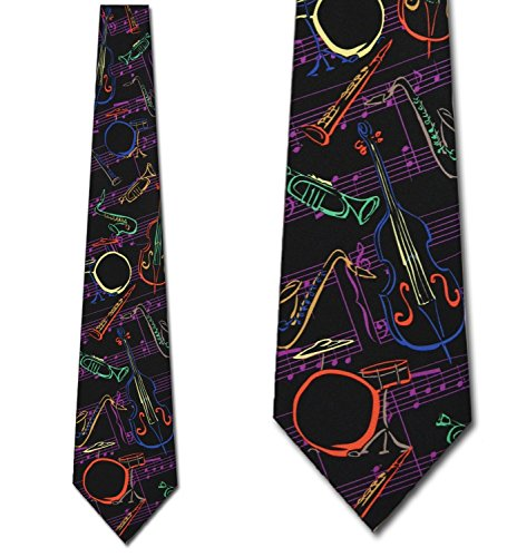 Jazz Instruments Tie Mens Music Neckties by Ralph Marlin (Fun Ties compare prices)