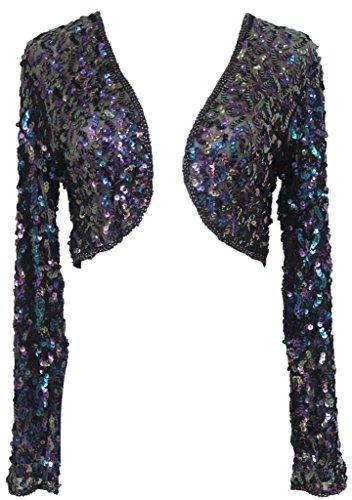 Alivila.Y Fashion Women Sequins Long Sleeve Shrug 3051