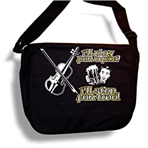 Violin Play For A Pint - MusicaliTee Sheet Music & Accessory Messenger Bag Carry Case - Gold from MusicaliTee