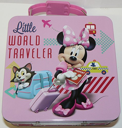"Disney Minnie Mouse Tin Box Carry All ""Little World Traveler."""