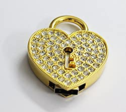 Anyusb069 Fancy Jewellery Studded Gold Heart Key Hole Shape Pen Drive (8 Gb) + Exclusive Hand Made Gift Box
