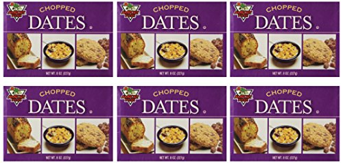 Chopped Dates Amport Foods 8 Oz (Pack of 6) (Amport Foods compare prices)