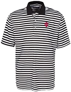 Oxford NCAA Indiana Hoosiers Mens Bar Stripe Golf Polo, Black White, X-Large by Oxford