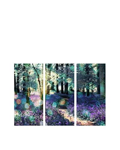 "Oliver Gal ""Lavender Morning"" Triptych Canvas Art"