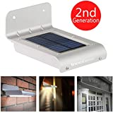 InnoGear® 16 LED Super Bright Waterproof Solar Powered Light Motion Sensor Outdoor Garden Patio Path Wall Mount Gutter Fence Security Lamp Light