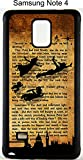 NEW Samsung Galaxy Note 4 Rubber Case Cover Peter Pan 1911 Novel Quote Tinkerbell Neverland Phone Fairy Princess