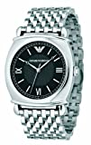 Emporio Armani Gents Stainless Steel Bracelet Watch with Black Dial :  dial gents watches watch
