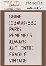 Stampers Anonymous Wendy Vecchi Studio Stencil Collection 65-Inch by 45-Inch Classic Words