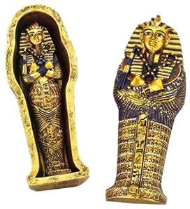 Amazon.com - Egyptian Mini King Tut Coffin with Mummy Egyptian Statue