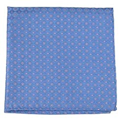 PS-10433 - Blue - Pink Mens Fashion Pocket Sqare