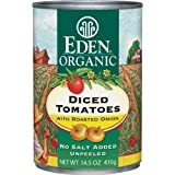 Eden Organic Diced Tomatoes with Roasted Onion, 14.5-Ounce Cans (Pack of 12)