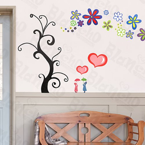 Love Tree - Large Wall Decals Stickers Appliques Home Decor