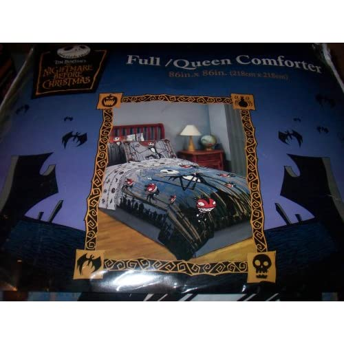 ... Nightmare Before Christmas Scary Teddy and Jack Comforter Full/Queen
