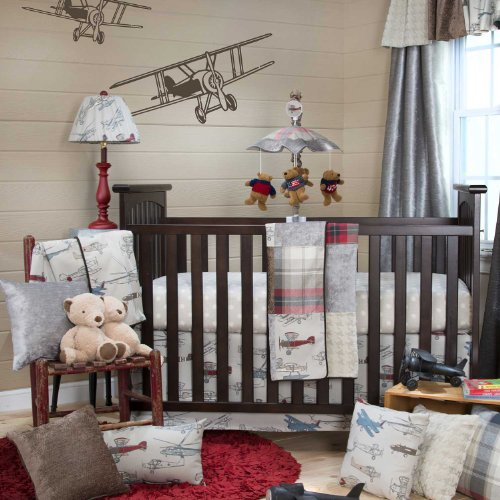 Inspirational Fly By Piece Baby Crib Bedding Set by Glenna Jean