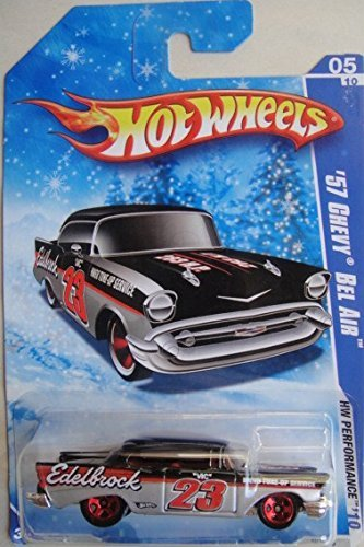 HOT WHEELS SNOWFLAKE CARD HW PERFORMANCE '57 CHEVY BEL AIR DIE-CAST - 1