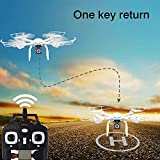 Goldenwide-MJX-X101-FPV-RC-Quadcopter-Drone-With-HD-Camera-Wi-Fi-Real-Time-Transmission-Extra-74V-1200mAh-battery-Explosion-proof-Battery-Safe-Bag-LiPo-Voltage-Checker-Warning-Buzzer-White