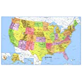 24x36 United States, USA, US Premier Wall Map Paper Folded