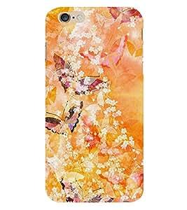 Butterfly Design 3D Hard Polycarbonate Designer Back Case Cover for Apple iPhone 6 Plus