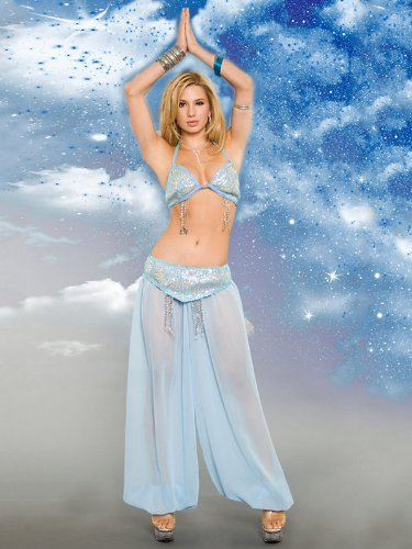 Adult Light Blue Heavenly Genie Sexy Costume