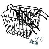 Wald 535 Rear Large Twin Basket (Black, 18X7.5X12)