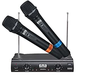 emb vhf ebm50a professional dual wireless microphone system musical instruments. Black Bedroom Furniture Sets. Home Design Ideas