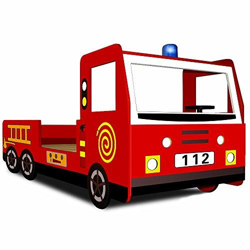 Lit camion pompier les bons plans de micromonde - Lit enfant camion pompier ...