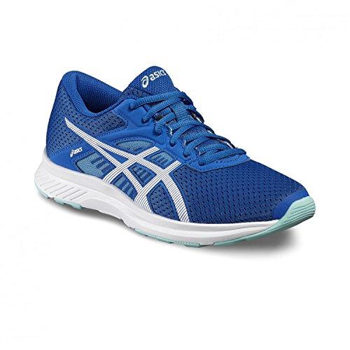 Asics fuzor scarpe da corsa, ASICS BLUE/WHITE/SAFETY YELLOW