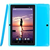 Arespark Ultrathin 7 pouces 8GB La Tablet PC, Google Android 4.4 OS KitKat, Allwinner A33 Quad Core CPU, écran 1024x600 Multi-Touch, double caméra, Wifi - Azur