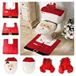Christmas decoration Santa toilet Set...