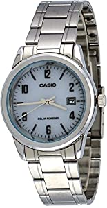 Casio MTP-VS01D-7B Men's Standard Solar Powered Stainless Steel Date Watch