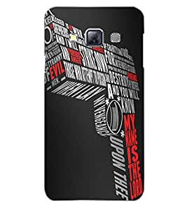SAMSUNG GALAXY A3 GUN Back Cover by PRINTSWAG