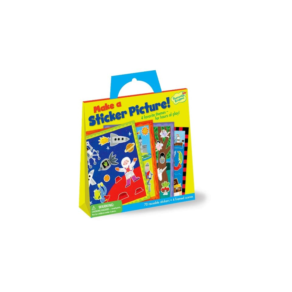 Peaceable Kingdom / Make a Sticker Picture Reusable Sticker Tote