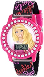 MATTEL Kids' BARKD174 Barbie Digital Display Quartz Black Watch