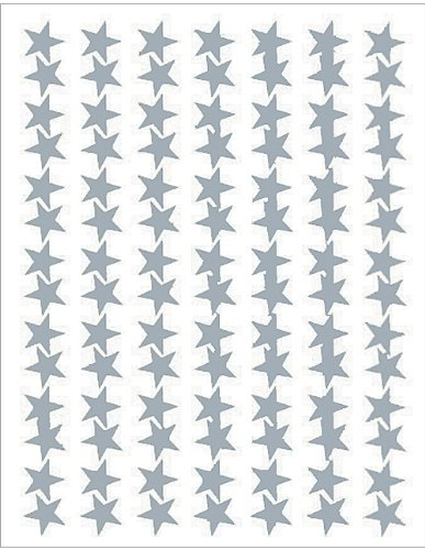 Teacher Created Resources Silver Stars Foil Stickers (1277)