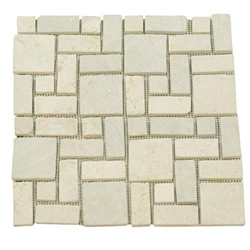 divero-1qm-marmor-naturstein-mosaik-fliesen-fur-wand-boden-romischer-verbund-creme-11-matten-30-x-30
