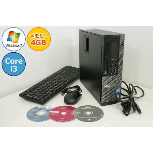 【中古パソコン】 デスクトップパソコン DELL OptiPlex 790 SFF Core i3 2120-3.30GHz 4GB 250GB DVD-ROM Windows7搭載 リカバリ付