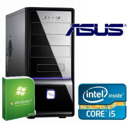 Tronics24 Istarter2 PC Intel Core i5-3450 (Quadcore) Ivy Bridge 4 x 3.1 GHz, 4 GB DDR3, Asus, USB3.0, SATA3, 250 GB Sata3 , Intel HD2500, DVD-Brenner, Microsoft Windows 7 Home Premium, Cardreader, Sound, GigabitLan, Office PC