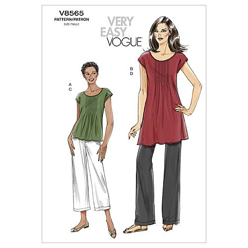 Vogue Patterns V8565 Misses' Top, Tunic and Pants, Size F5 (16-18-20-22-24)