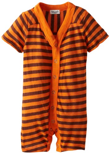 Splendid Littles Baby-Girls Infant French Stripe Short Sleeve Romper, Howl, 18-24 Months front-849517