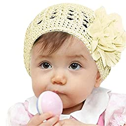 Doinshop Colorful Baby Kids Flower Headband Hair Bow Band Accessories Headwear (Beige)
