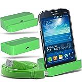 (Green)Samsung Galaxy Grand Neo Micro Desktop USB Charging Dock Mount Stand & Micro USB portatile / PC sincronizzazione...