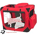 Pet Gear Generation II Deluxe Portable Soft Crate for Cats and Dogs up to 30-Pounds, Red Poppy