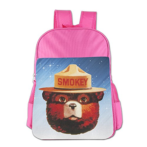 LALFOUNEE Smokey Bear Head Children Kids Boys Girls School Shoulder Bag Lunch Backpack Bags For School Travel Hiking Outdoor Picnic (Smokey The Bear Costume)