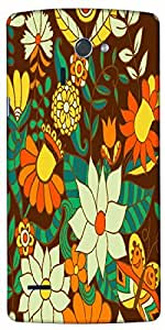 Timpax Hard Back Case Cover Printed Design : Flowers in the park.Compatible with LG-G-4